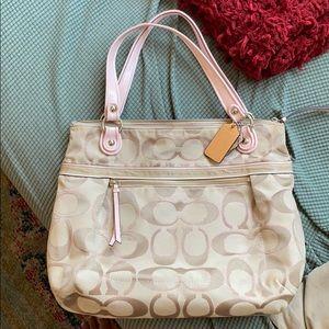 Coach purse (pink & beige)